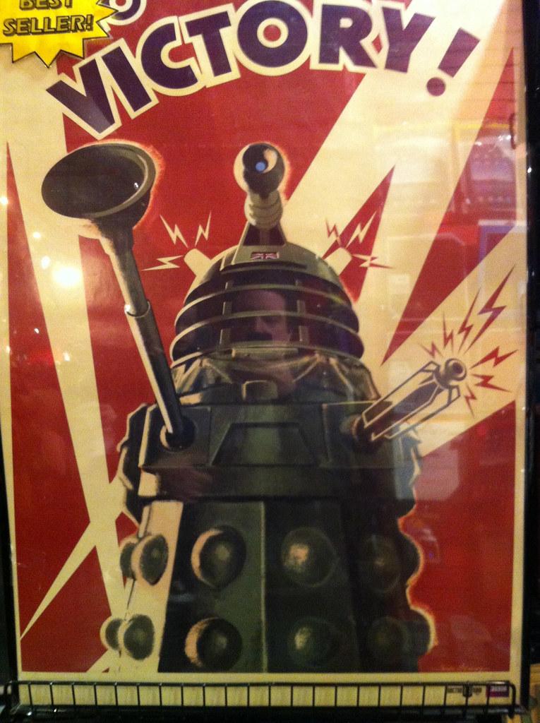 "Dalek WW2 ""VICTORY!"" propaganda poster, presumably ready t ..."