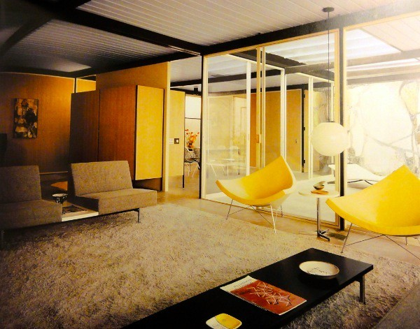 Mid Century Modern Interior George Nelson Coconut Chairs