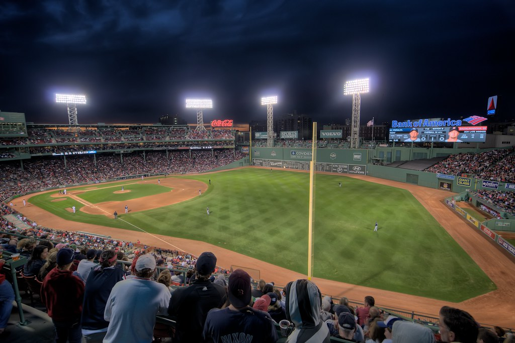 Fenway Park At Night From Right Field Roof Box Section