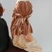 Brown & Gold Wedding cake (detail brides dress)