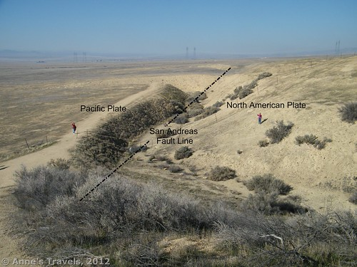 Demonstrating the power of the San Andreas Fault in Carrizo Plain National Monument, California in December, 2008