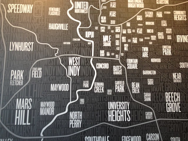 Part Of The Map Of The Indianapolis Neighborhoods  Part