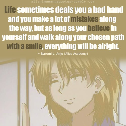 Anime Quotes Alice Academy Gakeun Alice I Love This