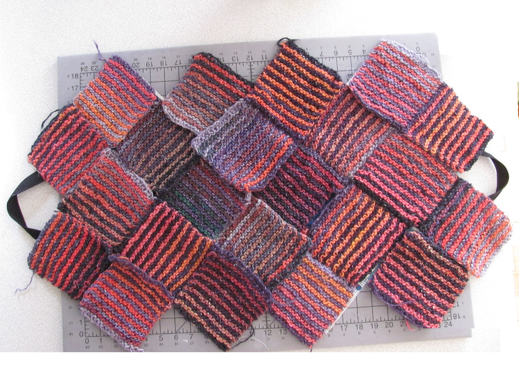 Garter Stitch Handbag Step 2
