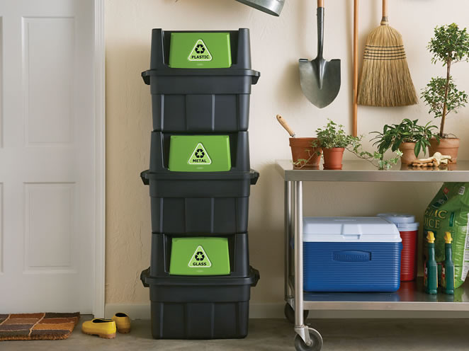 Stackable Recycler Bin Rubbermaid Stackable Recyclers