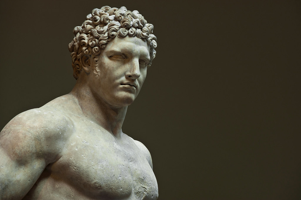 Marble Statue Of A Youthful Hercules Dansshots Flickr