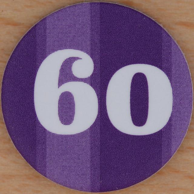 Purple Bingo Nu... Number Sixty