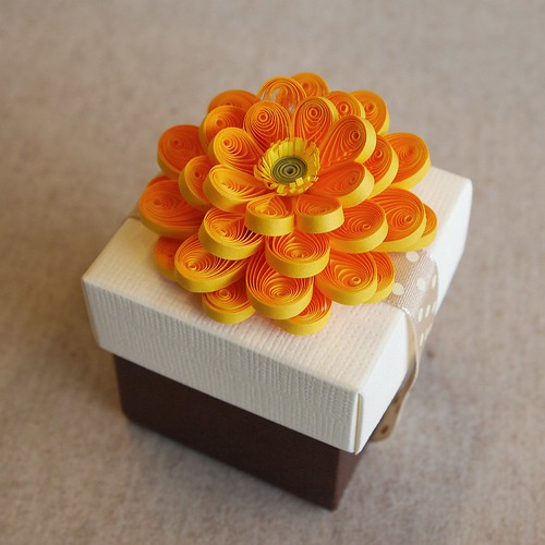 Paper Quilling Cake Box