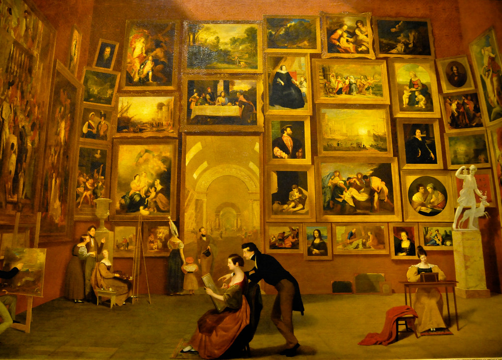 Samuel F.B. Morse - Gallery of the Louvre at National Art ...
