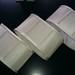 Cream fabric lampshades