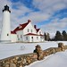 Winter at Point Iroquois Lighthouse - Whitefish Bay, Michigan