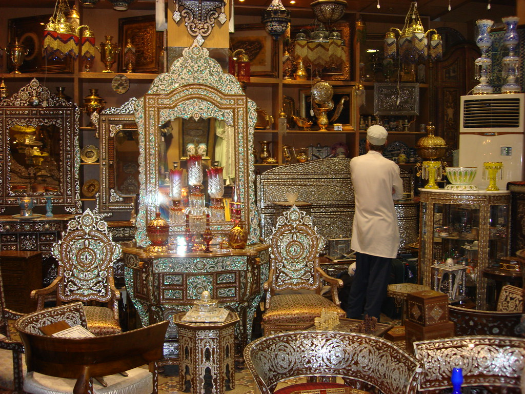Antique furniture of syria all pieces are embedded with for C furniture new lynn