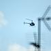 Helicóptero con el 800 mm