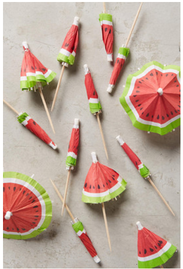 watermelon drink umbrellas