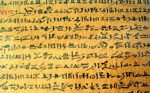 hieratic script hieroglyphic writing alphabet