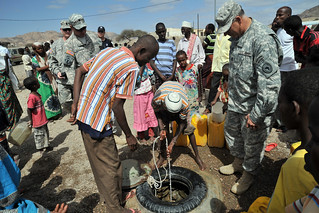 U.S. military checks on Djibouti wells | by USAFRICOM