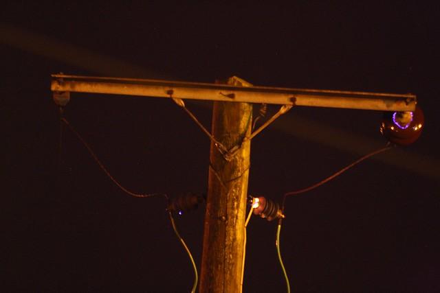 Electrical Corona Discharge : Electric pole at eoropie corona discharge flickr