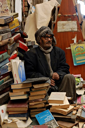 An old bookseller in Baghdad | by Samer M