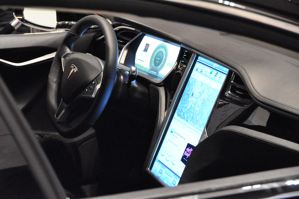 Tesla Model S Inside View Martin Gillet Flickr