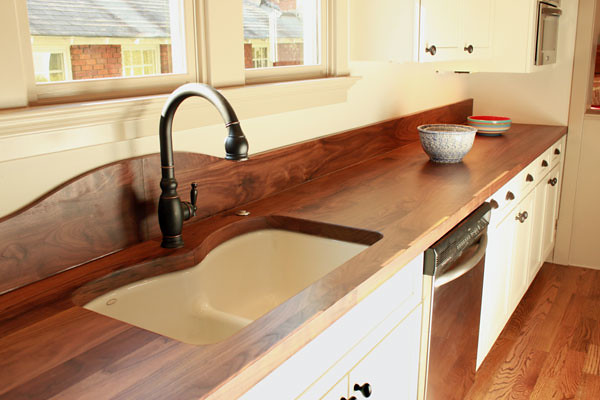 Walnut Countertop With Backsplash Wood Species Walnut