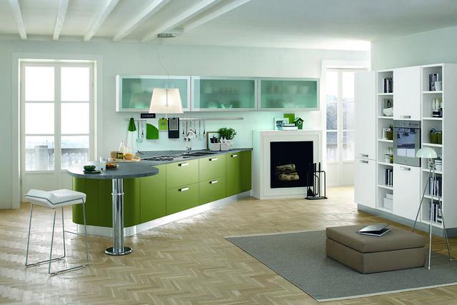 Cucina moderna con mobili verdi  Flickr - Photo Sharing!