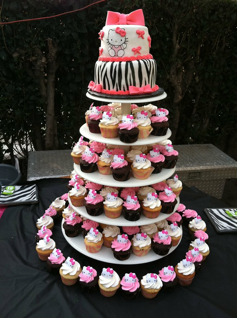 Hello Kitty Zebra cake and cupcakes | Gaspar Rodriguez ...