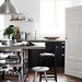Daniela Witte / Skona Hem {black, white and stainless steel eclectic vintage industrial kitchen}