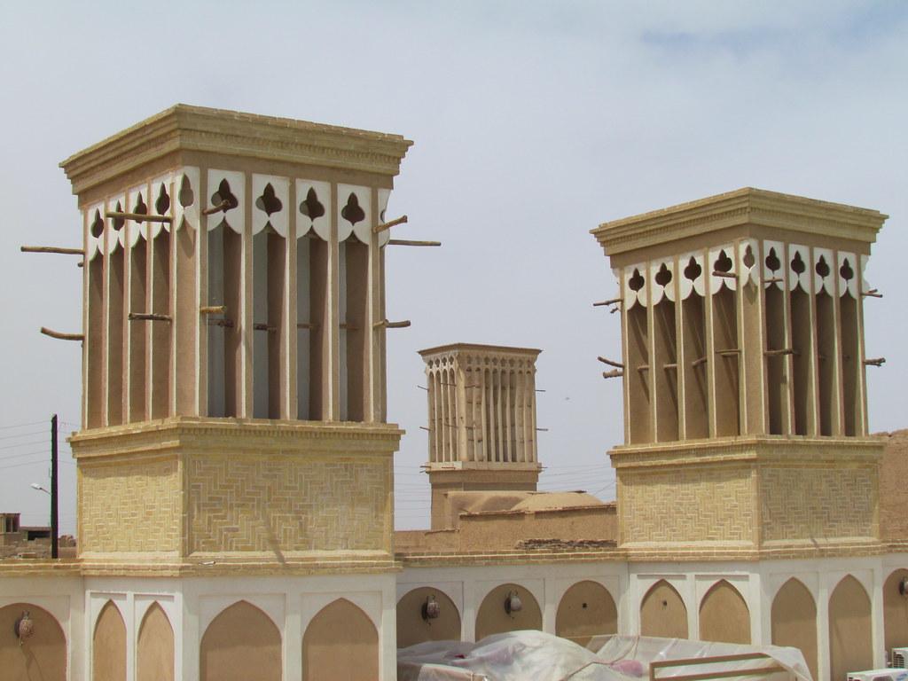 Windcatchers Badgir In Yazd Windcatchers Called Badgir Flickr