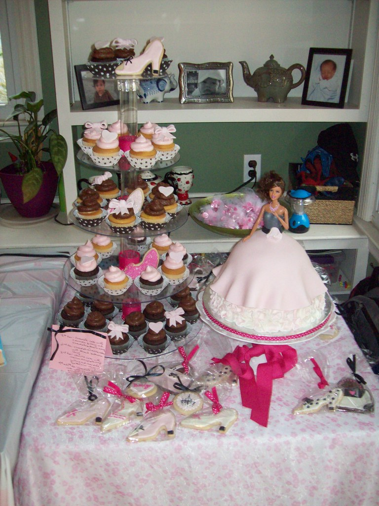 barbie baby shower 022 a barbie themed dessert table for m