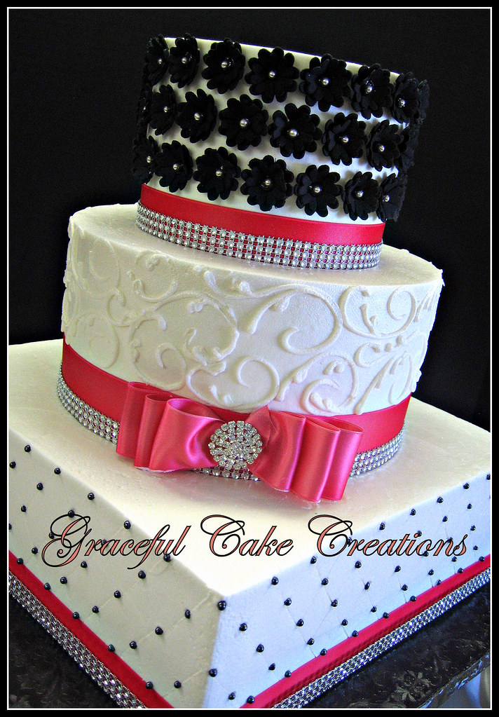 Bling Wedding Cakes Pink Wedding Cake With Bling
