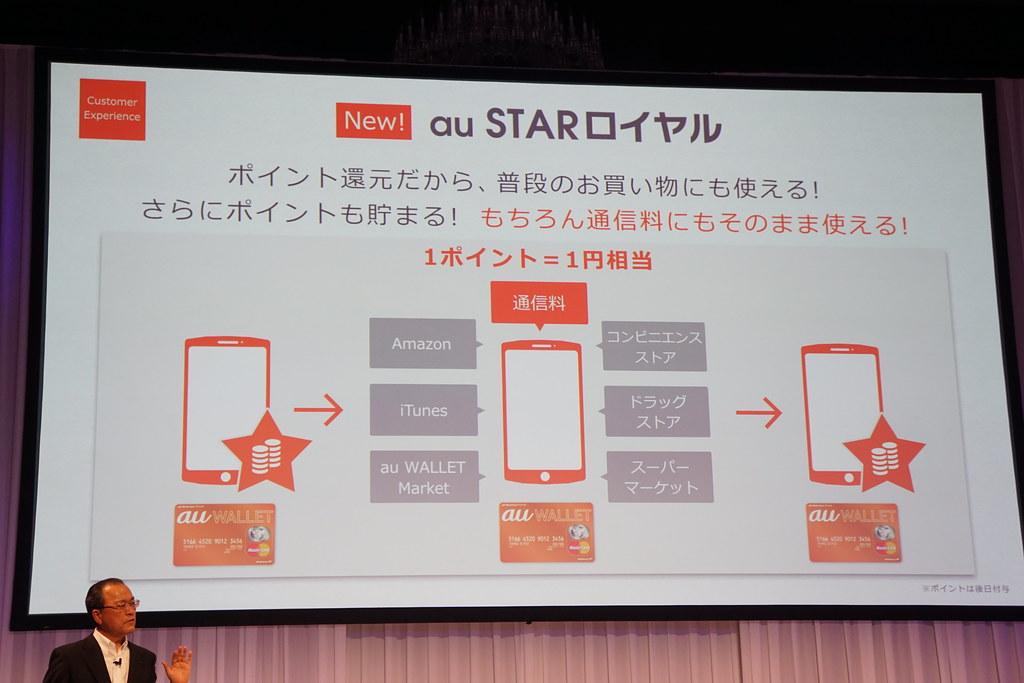 auの新会員プログラム「au STAR」が8月開始。長期利用者向けのポイント還元など3つの特典を用意