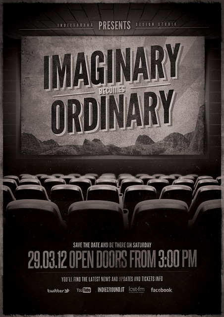 Movie Poster Template Psd Vintage cinema flyer/poster