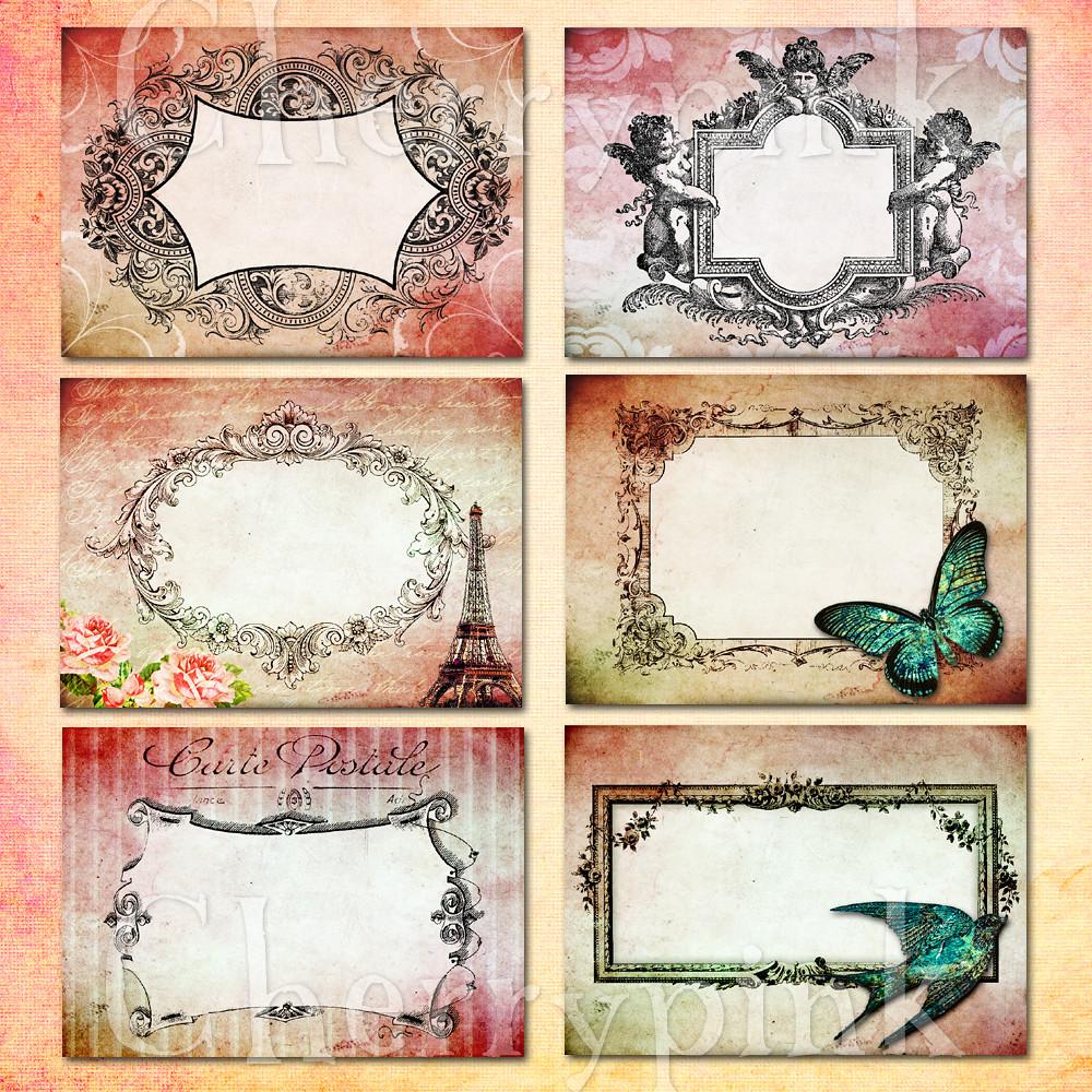 Digital Collage Sheet, Vintage Frame Printable images for … | Flickr