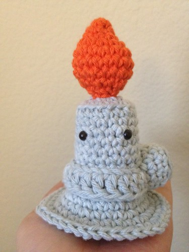 Bernie, the amigurumi bunsen burner | by primandplush