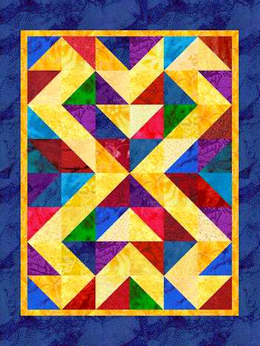 In Celebration | This computer-illustrated quilt was ...