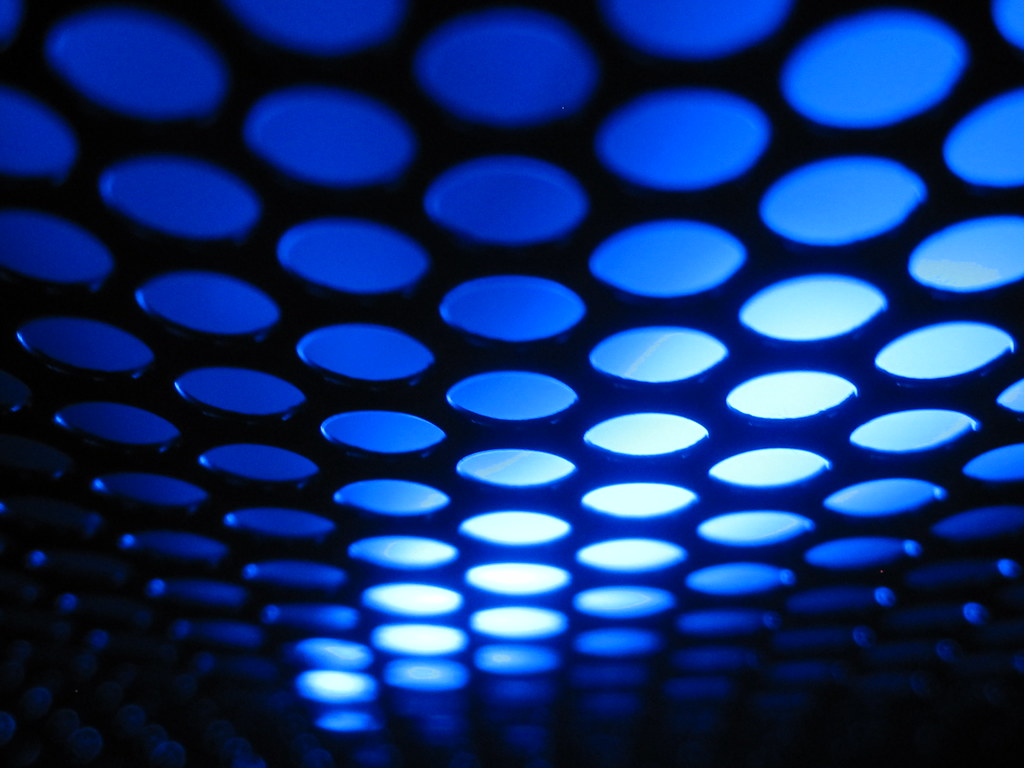 Hd Wallpaper 1920x1080 Black Blue: Neon Blue And Black Abstract Pattern