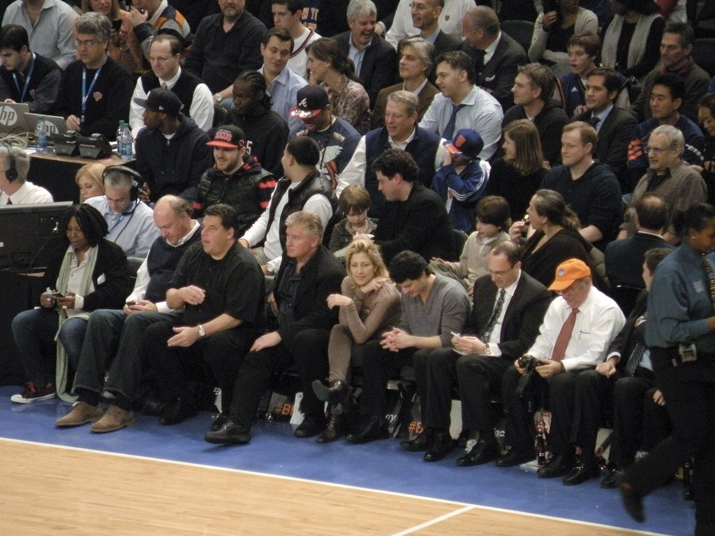Celebrity Row Msg 2 15 12 New York Knicks Vs