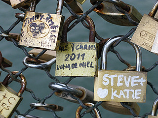 steve and katie - Pont des Arts, Paris | by David Lebovitz