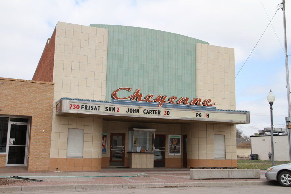 St Francis Kansas Us Rt 36 Movie Theater Cheyenne Theat
