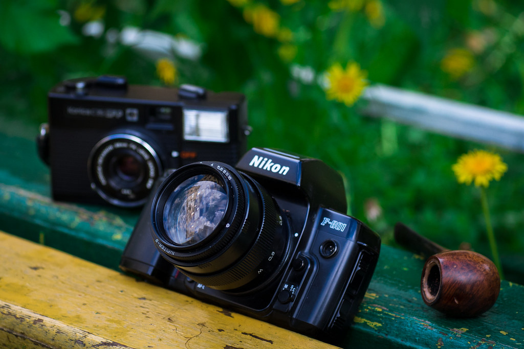«Nikon F-801 + Jupiter 9 85mm lensa»