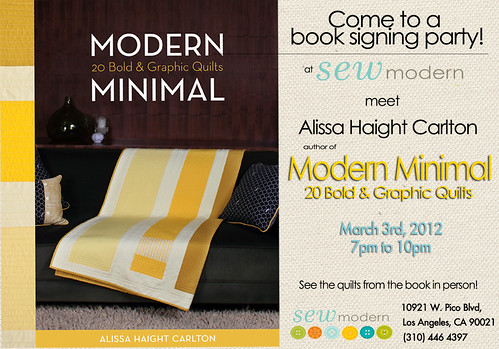 Modern Minimal book signing flyer | by alissahcarlton