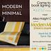 Modern Minimal book signing flyer