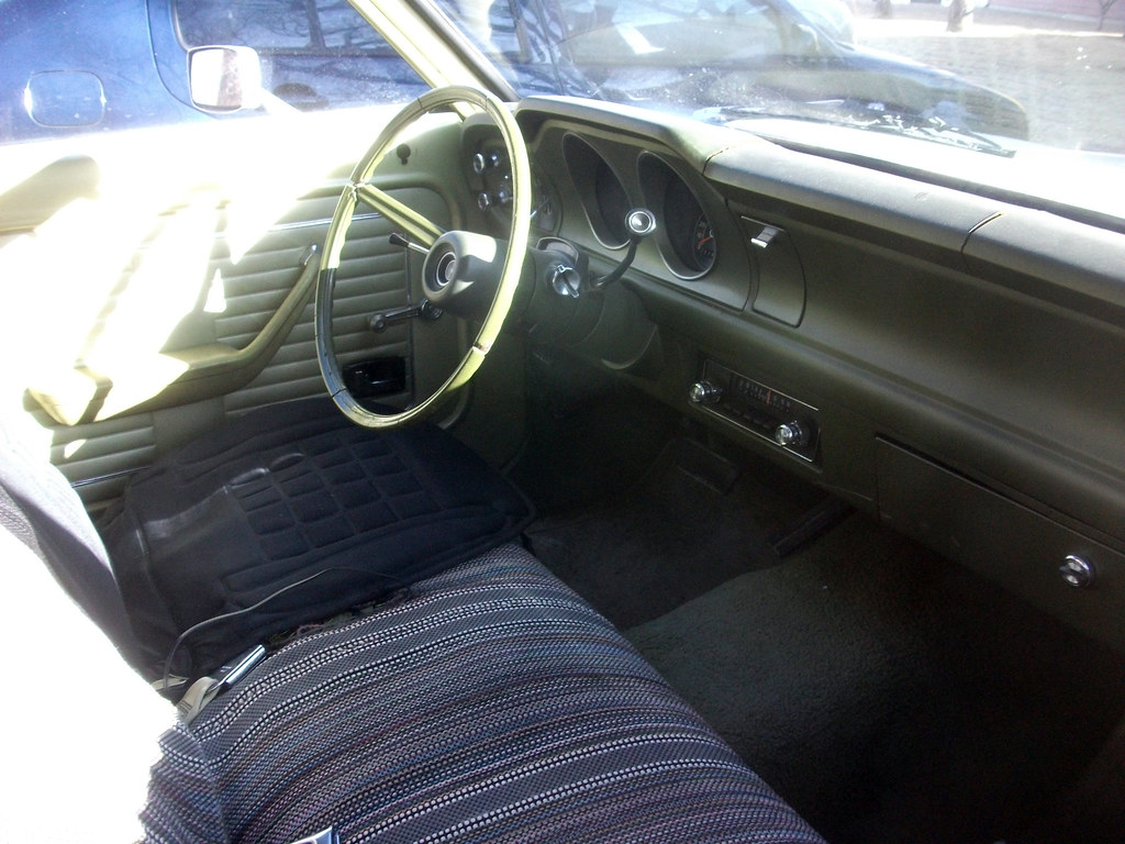 Ford Maverick interior | Four door Ford Maverick. One of ...