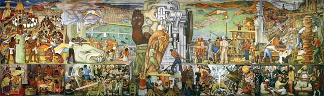 Diego rivera the pan american unity mural 1940 the for Diego rivera mural in san francisco