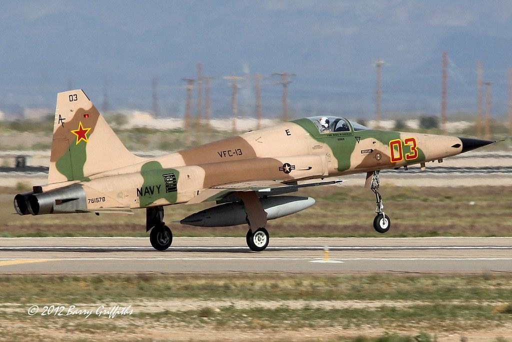 Northrop F 5n Tiger Ii Us Navy 761578 Vfc 13 Aggressor Squ