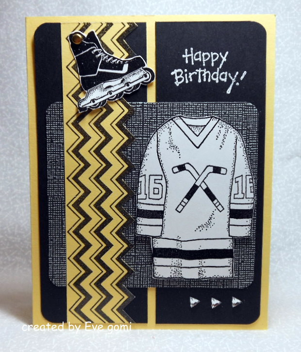 Masculine Birthday Card For A Hockey Fan!