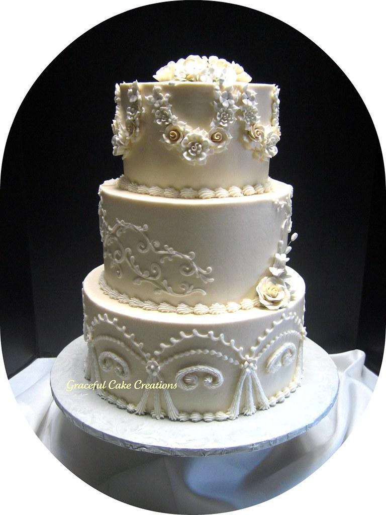 Elegant Vintage Wedding Cake Grace Tari Flickr