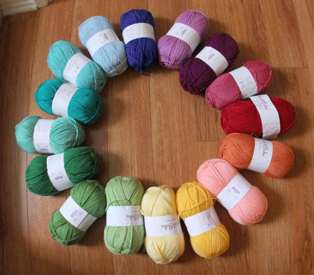 Knitting Color Wheel : Knit picks yarn color wheel gretchen brownbear flickr