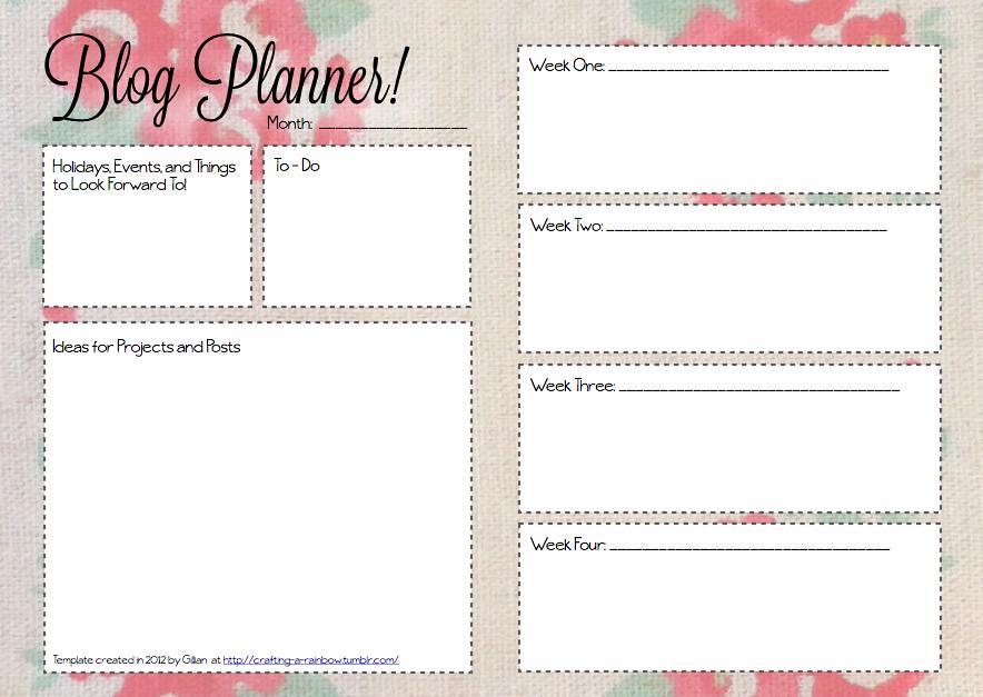 monthly blog planner floral monthly blog planner template flickr. Black Bedroom Furniture Sets. Home Design Ideas