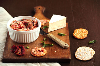 Sun Dried Tomato Basil Brie Spread | by pastryaffair